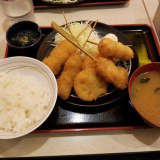 串カツ定食(串カツ田中 KITTE博多店)