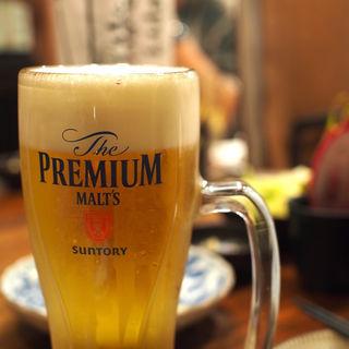 ビール(プレモル)(やさい串巻き なるとや)