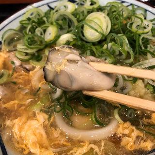 牡蠣づくし玉子あんかけ(丸亀製麺 伊丹南町店 )