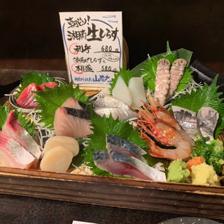 お刺身の盛り合わせ(魚と酒 はなたれ 横浜鶴屋町店 )