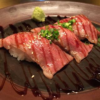 牛のにぎり(焼肉Toraji 京都ヨドバシ店)