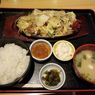 辛味噌鉄板定食(まさいち)