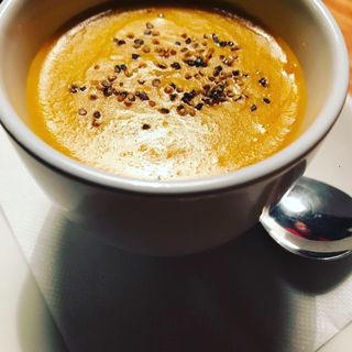 豆乳とロワイヤルかぼちゃソース(旬菜食堂 山吹)