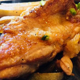 薩摩赤鶏と若鶏の食べ比べステーキ