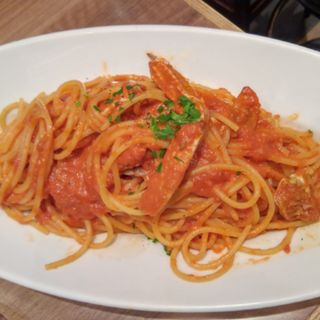 タラバ蟹のトマトクリームソース スパゲッティ (俺のイタリアン TOKYO )