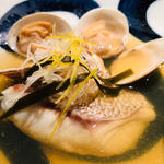 天然鯛と蛤のわんちり