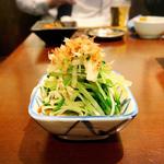 水菜とエノキのおひたし