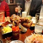 鶏ハツ串(2本)(大衆酒場 チャン栓チャン)
