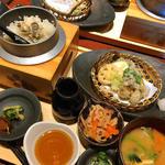 牡蠣釜めしと 天ぷらの盛り合わせ定食
