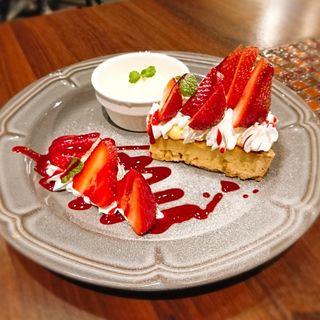 あまおう苺とバニラアイス(cafe1923)