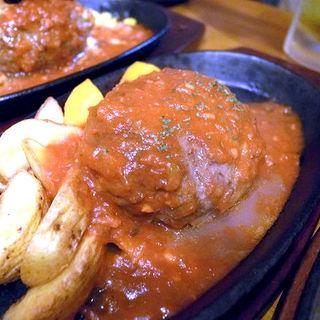 ハンバーグ(トマトソース)(ハンバーグレストラン まつもと )