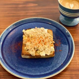 ツナとチーズのサンドウィッチ(The Green Stamps Cafe)