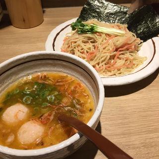 紅白エビつけ麺(ほくと亭 (ほくとてい))