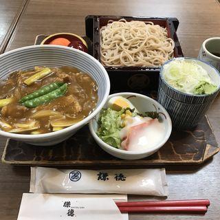 カレー丼セット(謙徳蕎麦 エンゼル店 (けんとくそば))