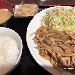 生姜焼き定食(肉屋食堂 たけうち)