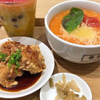 チーズトマト粥 カフェセット(糖朝 CAFE 横浜ランドマークプラザ店)