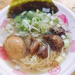 中落ちカルビネギ塩ラーメン(+煮玉子)