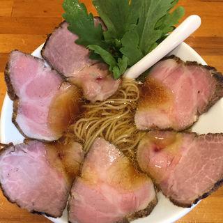 醤油らーめん+肉増し(極汁美麺 umami)