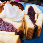 小倉とバターのトーストサンド