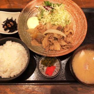 生姜焼き定食(神屋流 博多道場 渋谷新南口店 )