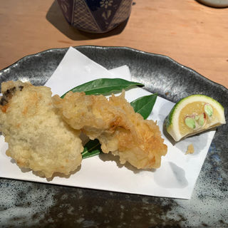 季節限定牡蠣の天ぷら単品(信州そば むら田)