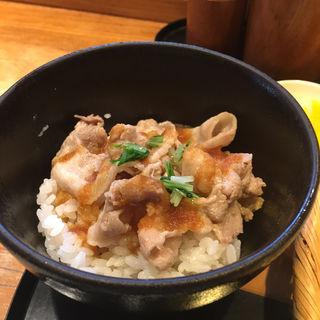 ミニ黒豚丼(欅 くろさわ (けやき くろさわ))