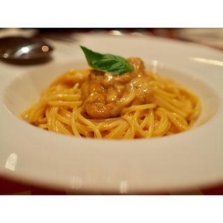 たっぷり北海道産生ウニとクリームソースのスパゲティ(arancino osaka)