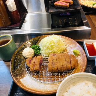 牛カツ麦飯明太セット(牛かつ もと村  渋谷道玄坂店)