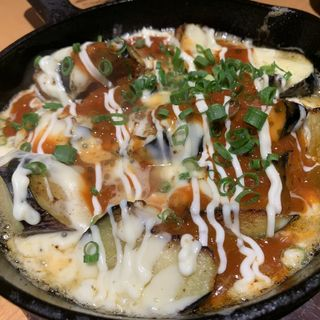 茄子チーズ鉄板サルサソース(かず坊)