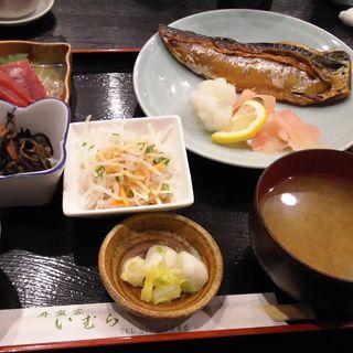 鯖の塩焼きと鮪の刺身(井魚家 いむら)