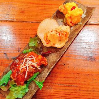 ぷりぷり海老の三種ソース(CHI・i ・NA 福島店)
