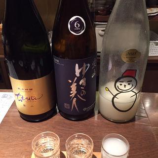 日本酒3種飲み比べ(贅沢なやつ)(ぽんしゅや三徳六味)