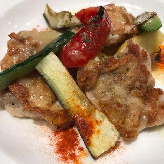 若鶏と彩り野菜のグリル(バケット)