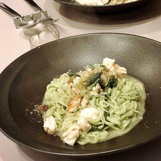 パスタコース 海老アンチョビケッパーペペロンチーノ(クッチーナ トラスクア (Cucina Trasqua))