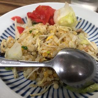 日替りミニ丼(山菜チャーハン)