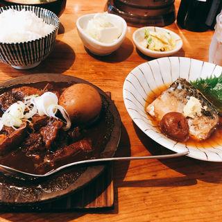 さばの味噌煮和牛黒煮込み(小)(あぶくま亭 )