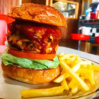 ハンバーガーBBQ.チーズ.パティ追加(バギーバーガーアンドレストラン (Buggy -burger&restaurant-))