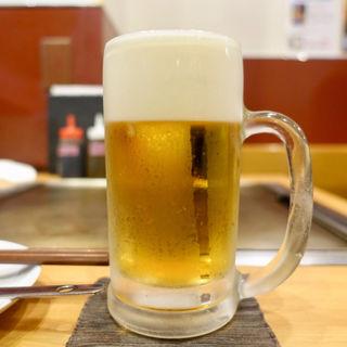 生ビール 中(お好み焼 きじ 丸の内店 )