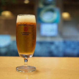 ビール(MASTER'S DREAM)(泳ぎいか・ふぐ・いわし・大阪懐石料理・遊食遊膳 笹庵 (ささあん))
