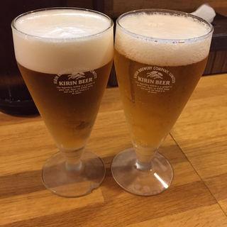 生ビール小2(うどん酒家 かみや )