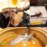 伊勢海老寿司と味噌汁付き(金の魚魚丸  ららぽーと名古屋みなとアクルス店)