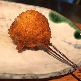 河豚と水菜(串揚げ)(串揚げ ふくみみ)