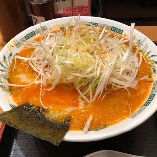 ぴり辛とんこつネギラーメン(日高屋 東銀座店 )
