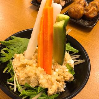 棒倒しポテトサラダ(たこ焼き酒場 たこ太 本町店)