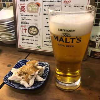 生ビール(アガリコ 餃子楼 新橋店)