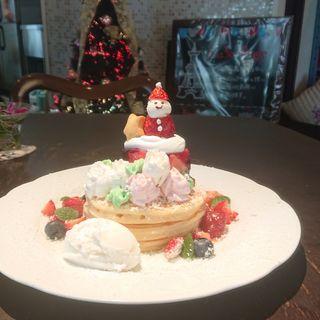 クリスマスパンケーキ(カフェアンジェ (Cafe Ange))