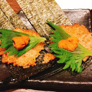 鉄板うに飯〜牡蠣醤油〜(鉄板キッチン 吟 三宮店 (GIN))