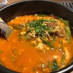 ユッケジャンスープ(焼肉ANDY)