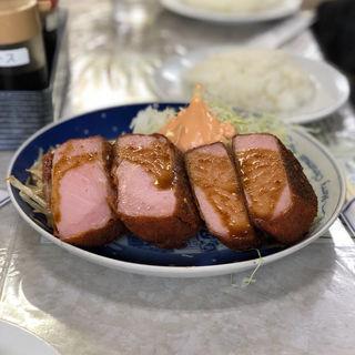 ハムかつ定食(レストランばーく )