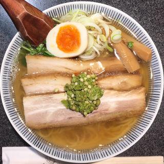 和風実山椒焼豚麺(麺屋ひょっとこ 銀座店)